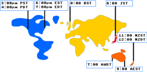 Blue Tengu Time Zone Map
