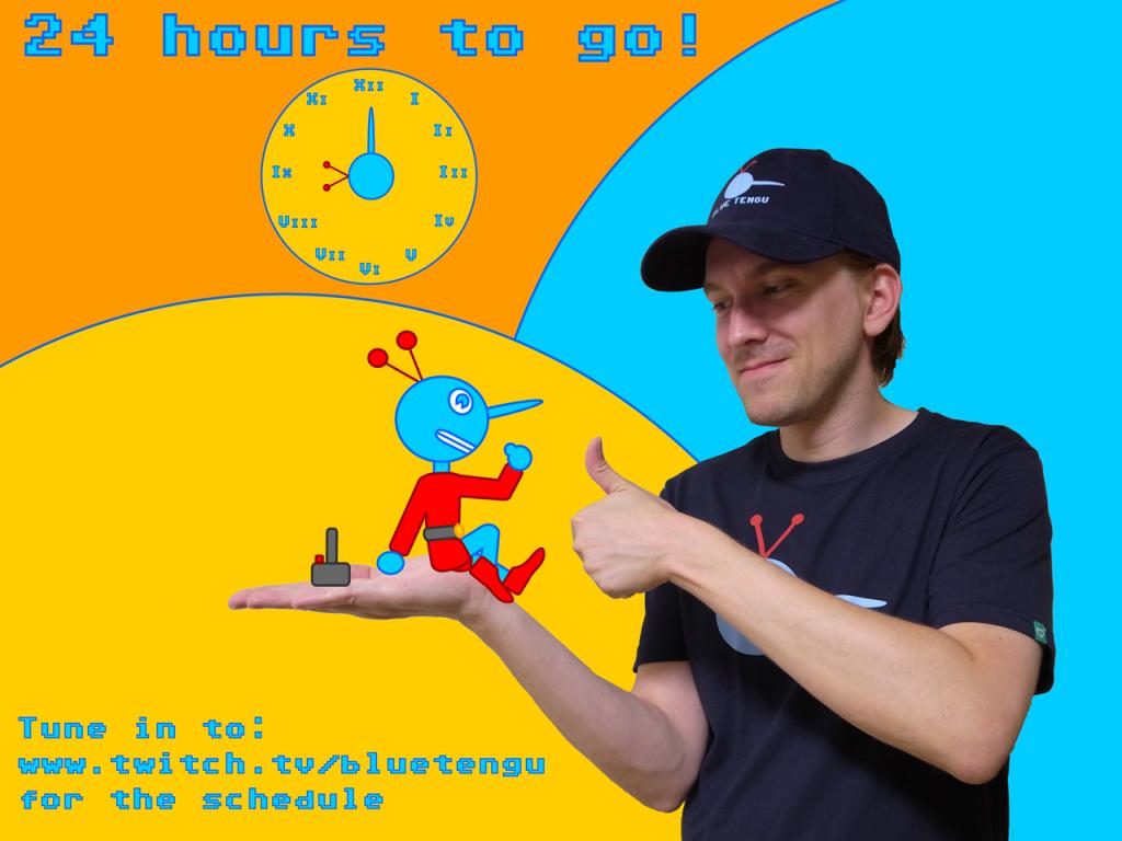 Blue Tengu 24 Hours to Go Logo