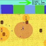 """An image of where the player's eyes are going to be when the action heats up and how that relates to the """"Score"""" text."""