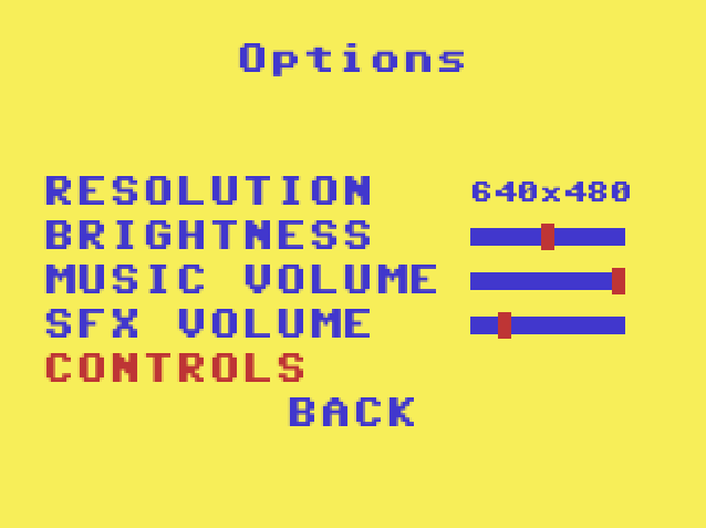 Project Spaghetti Options - Controls